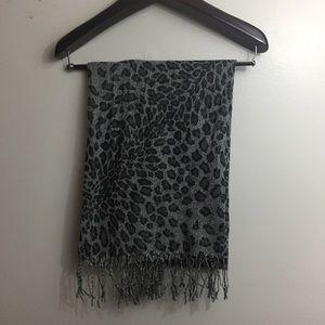Animal print blanket/wrap scarf